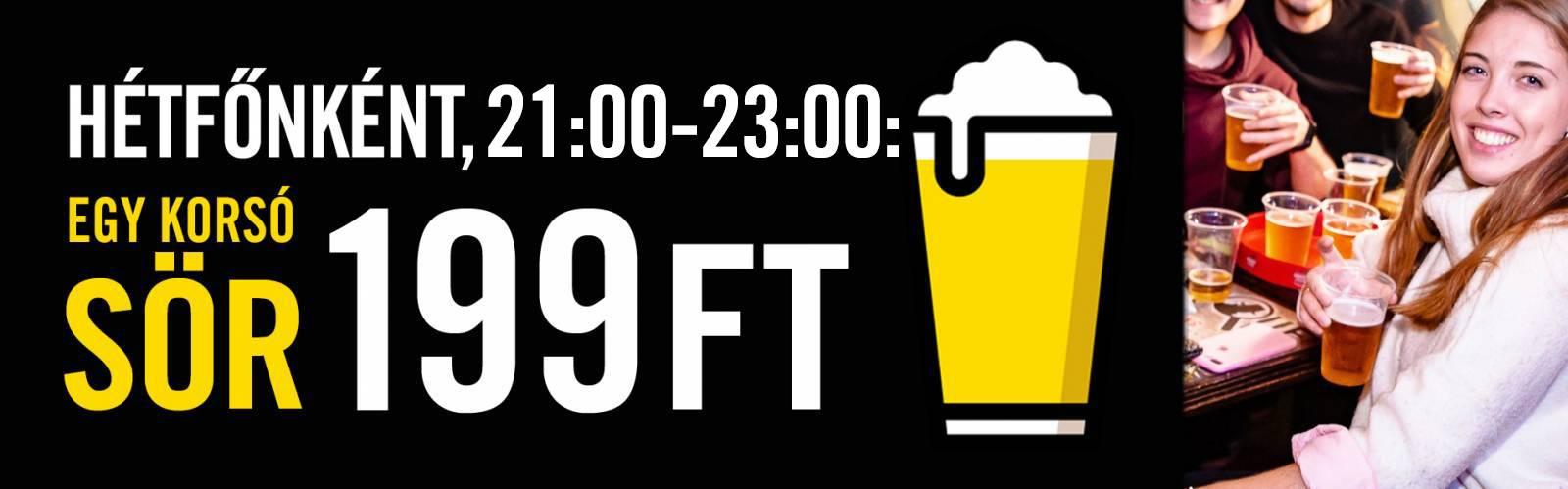 Hétfői sörakció